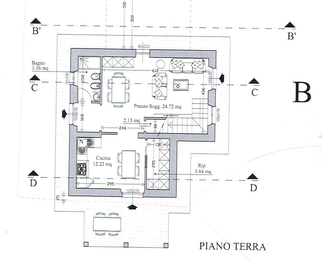 Planimetria 1/2 per rif. 2891