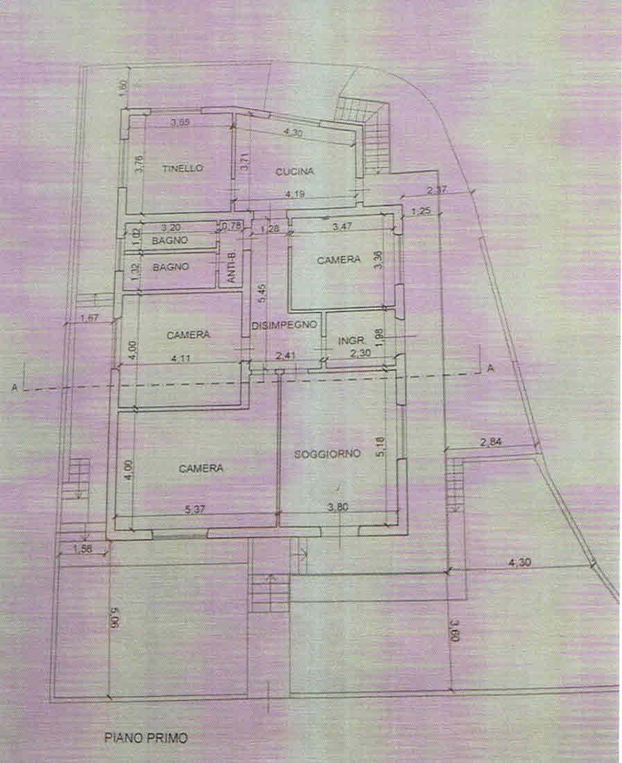Planimetria 1/2 per rif. 2896