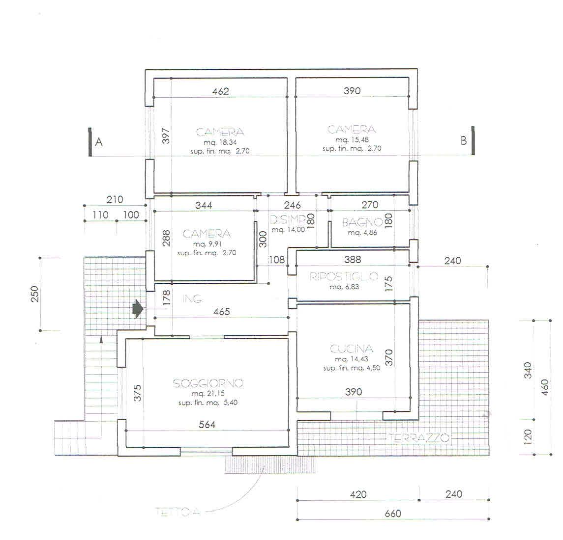 Planimetria 1/1 per rif. 2898