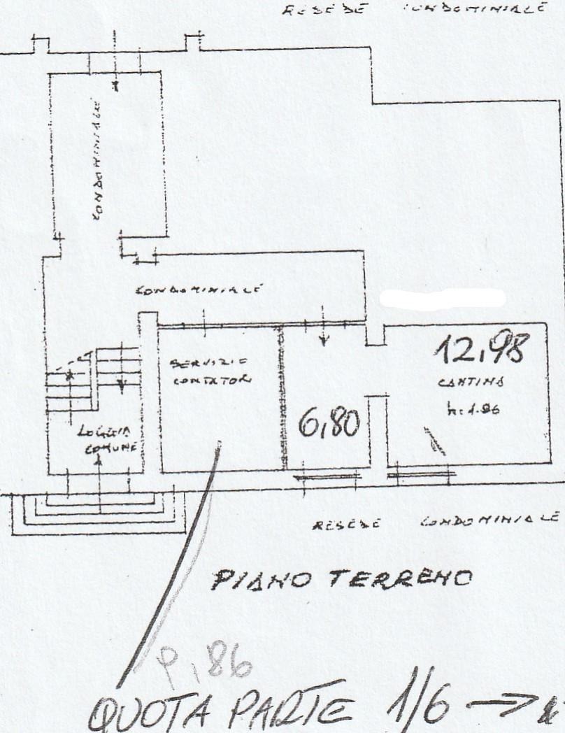 Planimetria 2/3 per rif. 2903
