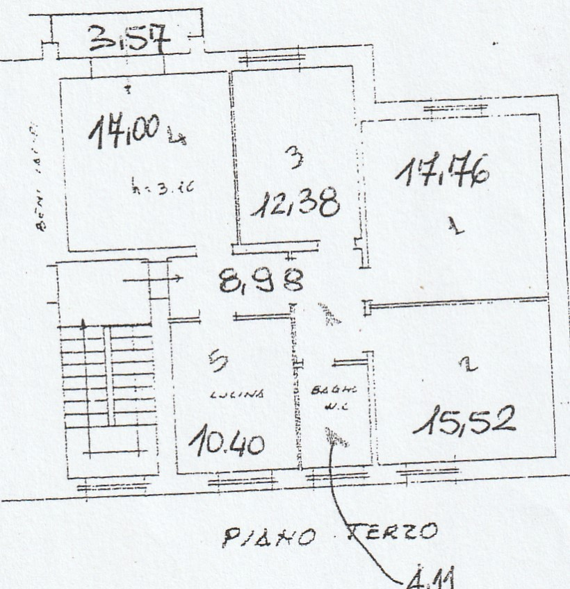 Planimetria 1/3 per rif. 2903