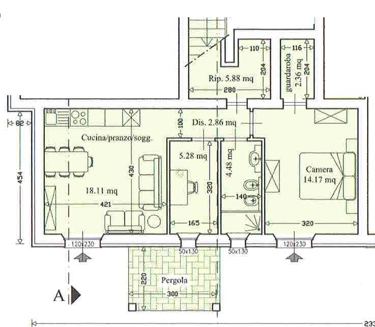 Planimetria 1/2 per rif. 2910