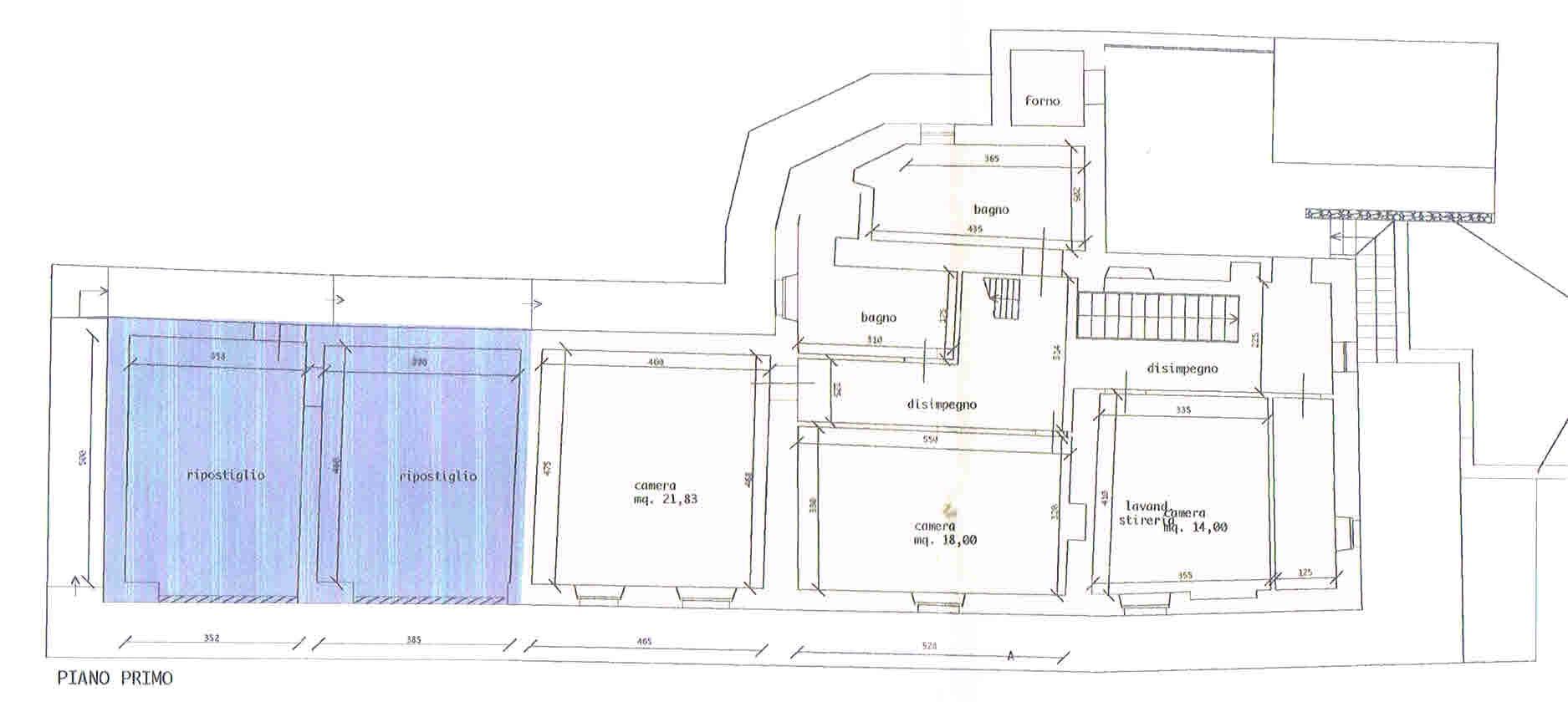Planimetria 2/3 per rif. 2914