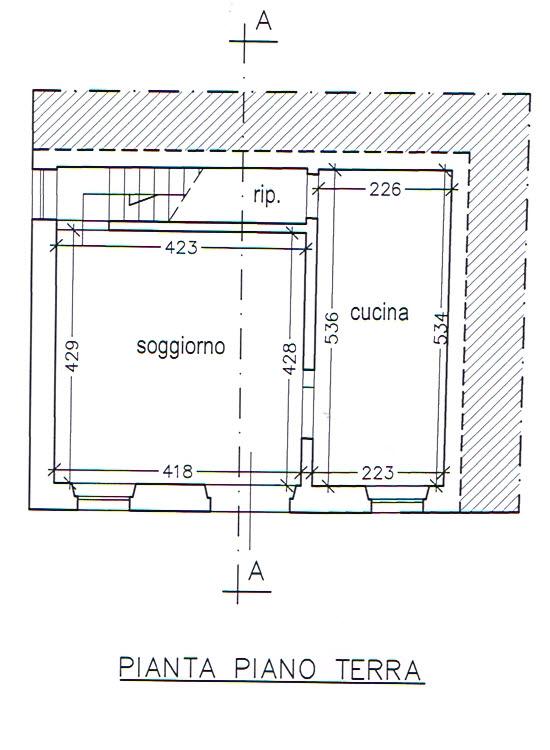 Planimetria 1/3 per rif. 2919