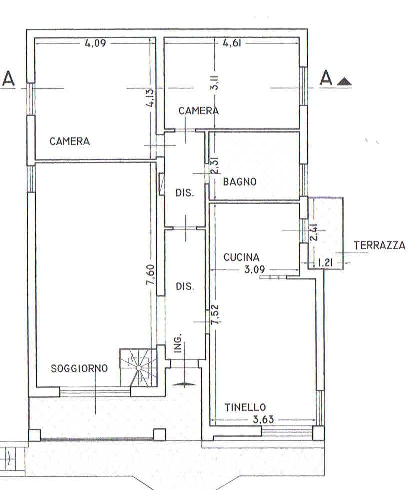 Planimetria 2/2 per rif. 2928