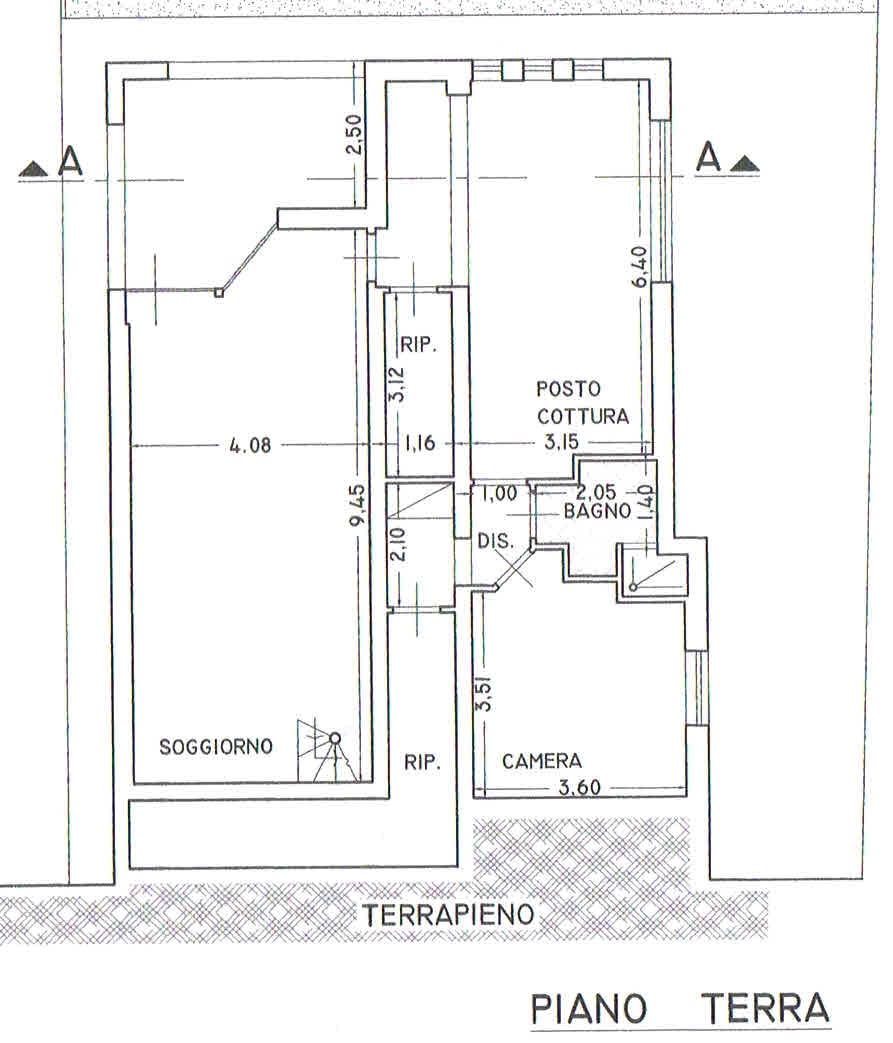 Planimetria 1/2 per rif. 2928