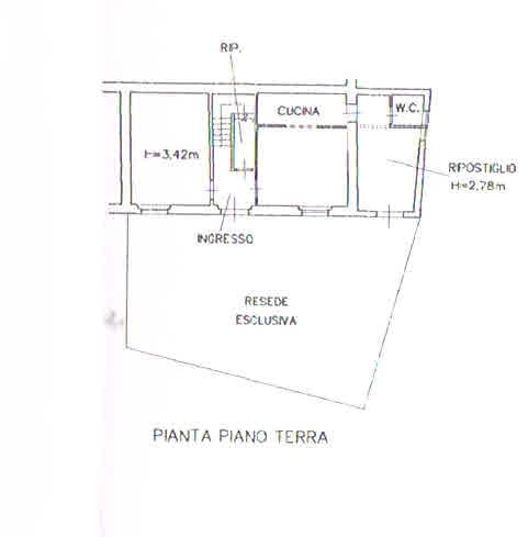 Planimetria 1/5 per rif. 2931