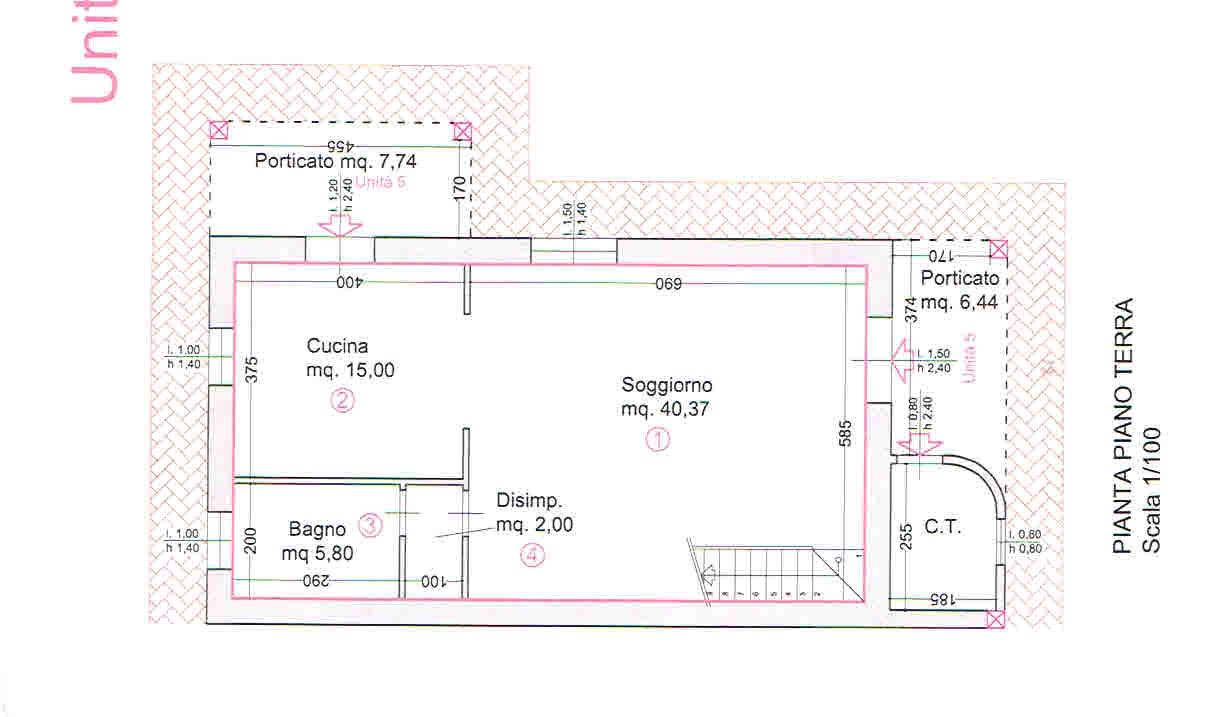 Planimetria 1/2 per rif. 2938