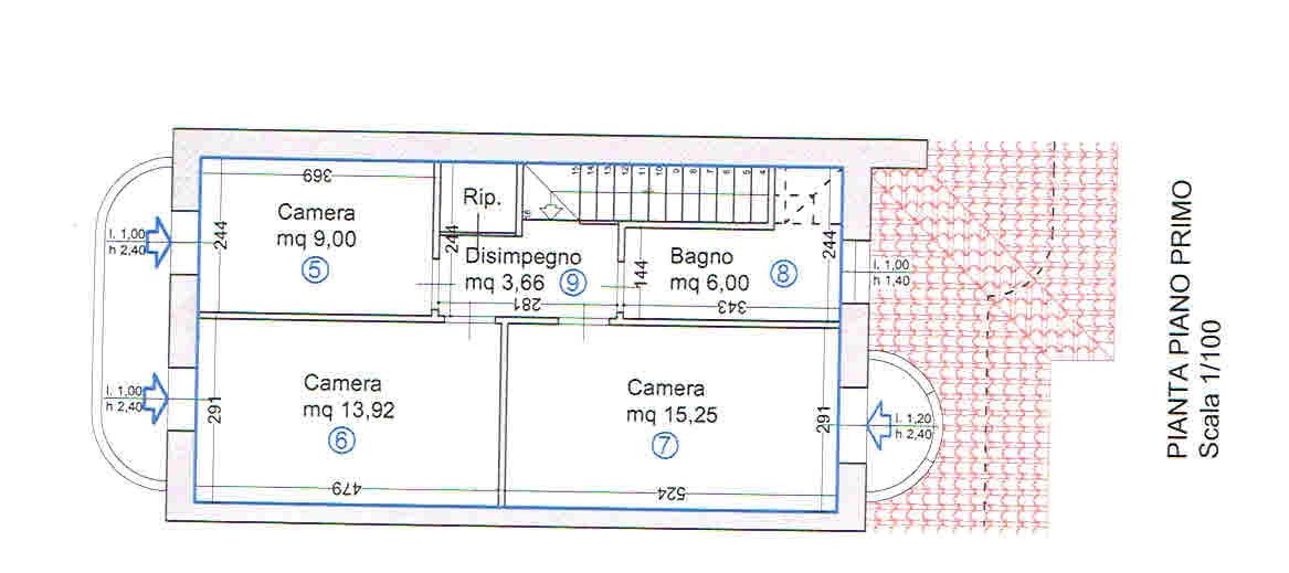 Planimetria 2/2 per rif. 2939