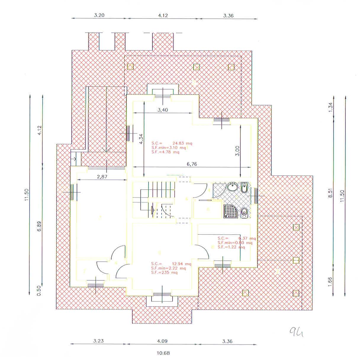 Planimetria 1/3 per rif. 2941