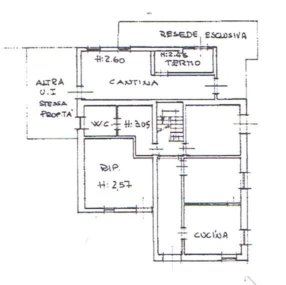Planimetria 1/3 per rif. 2944