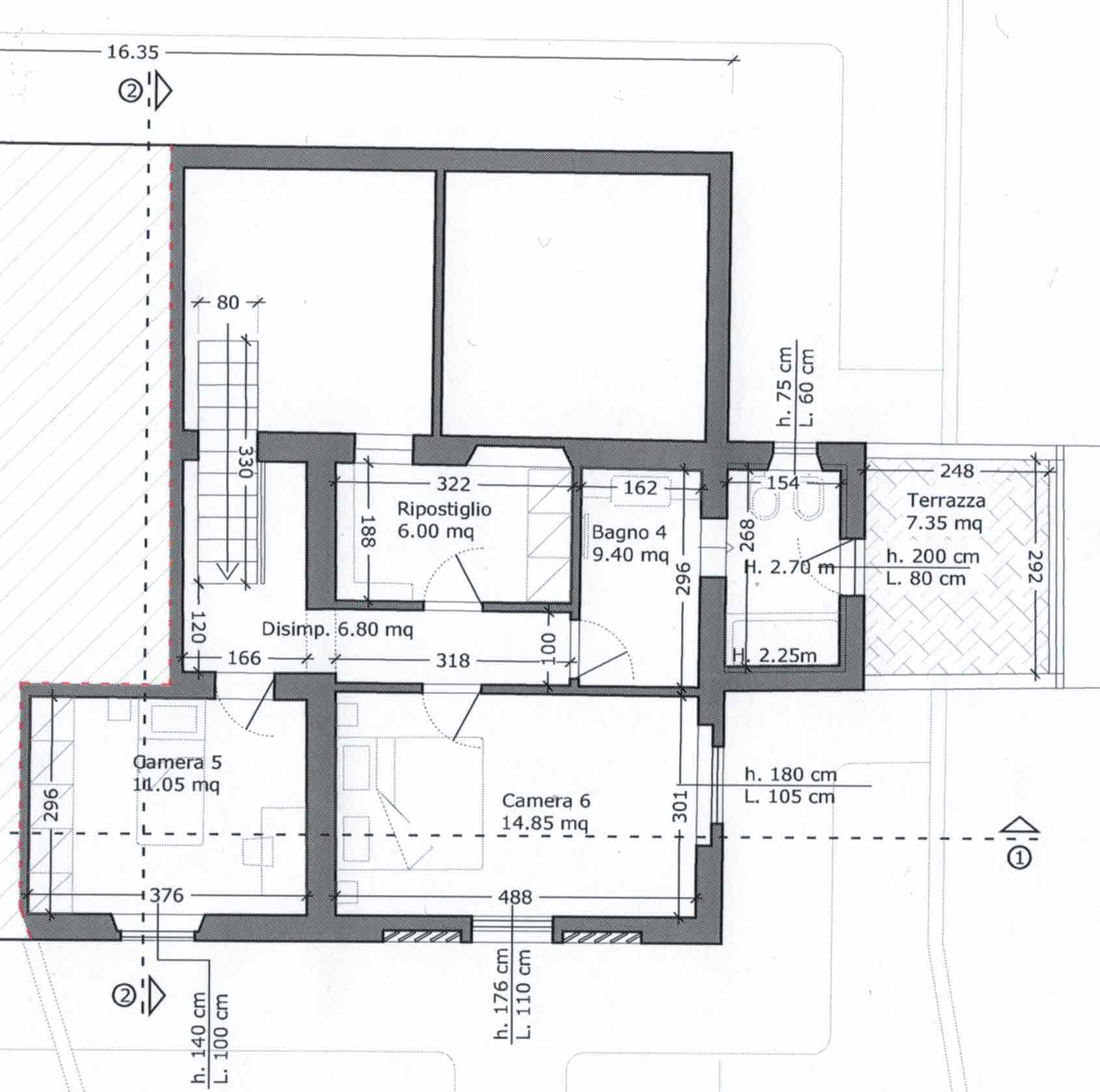 Planimetria 2/2 per rif. 2957