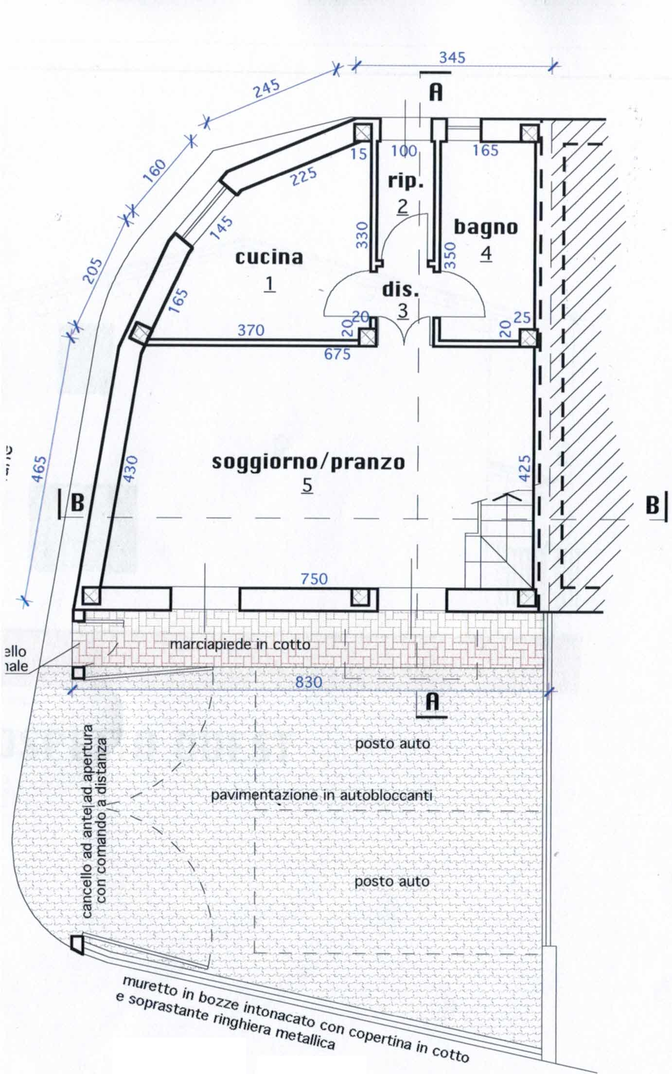 Planimetria 1/2 per rif. 2965
