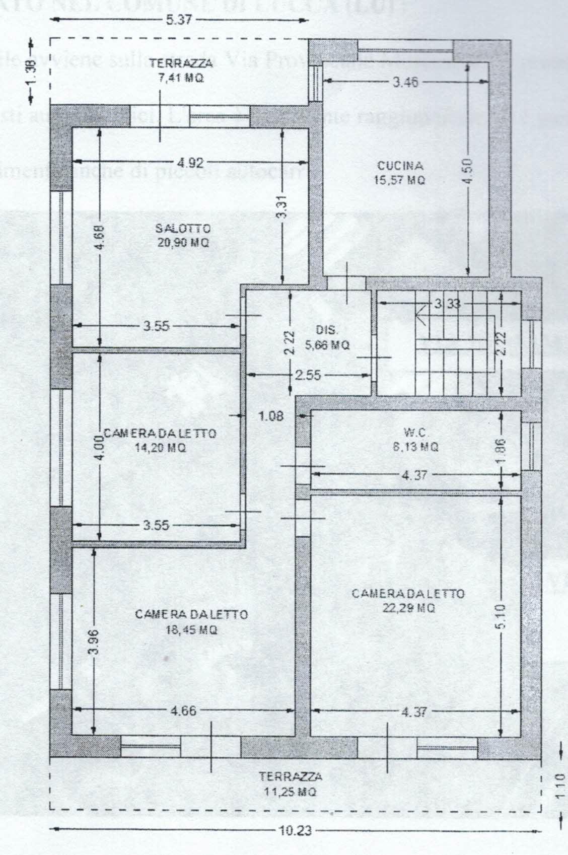 Planimetria 1/3 per rif. 2969