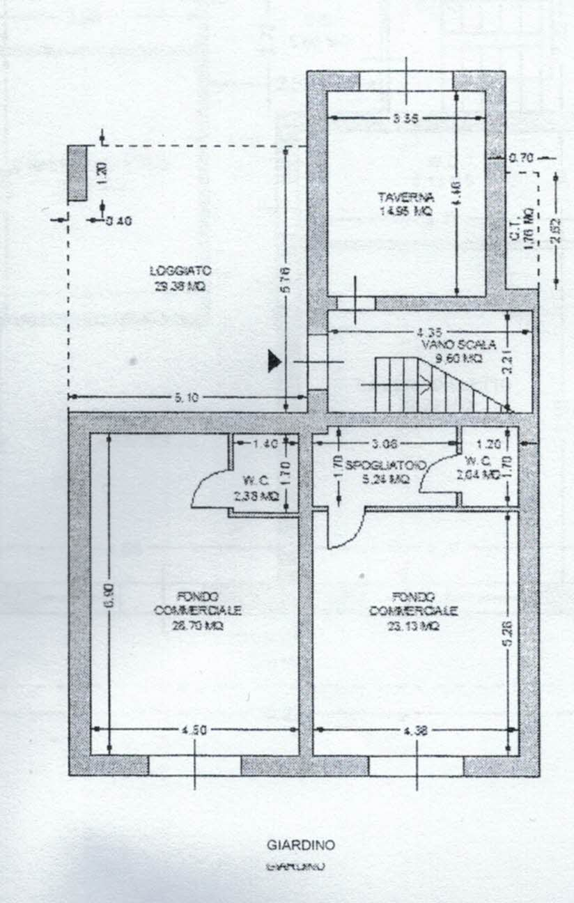 Planimetria 2/3 per rif. 2969