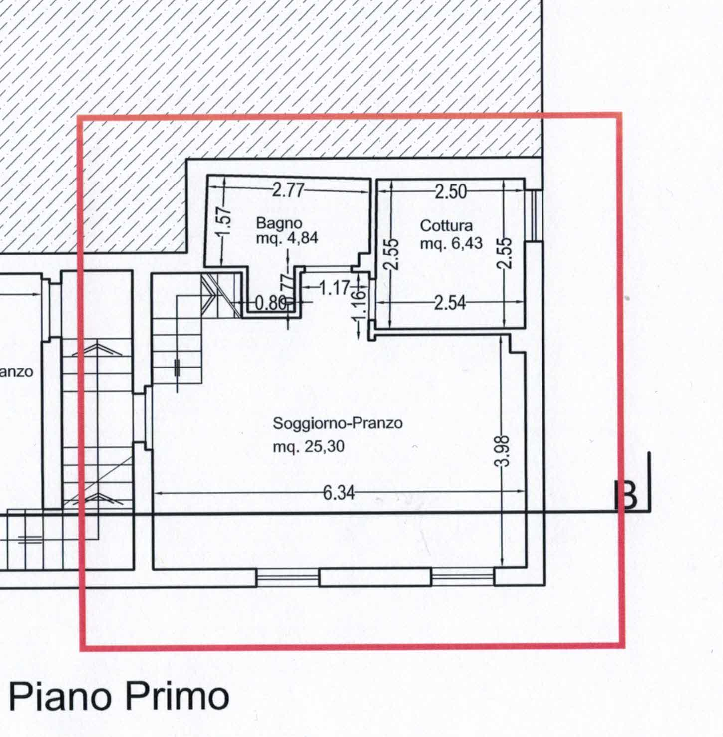 Planimetria 1/2 per rif. 2974