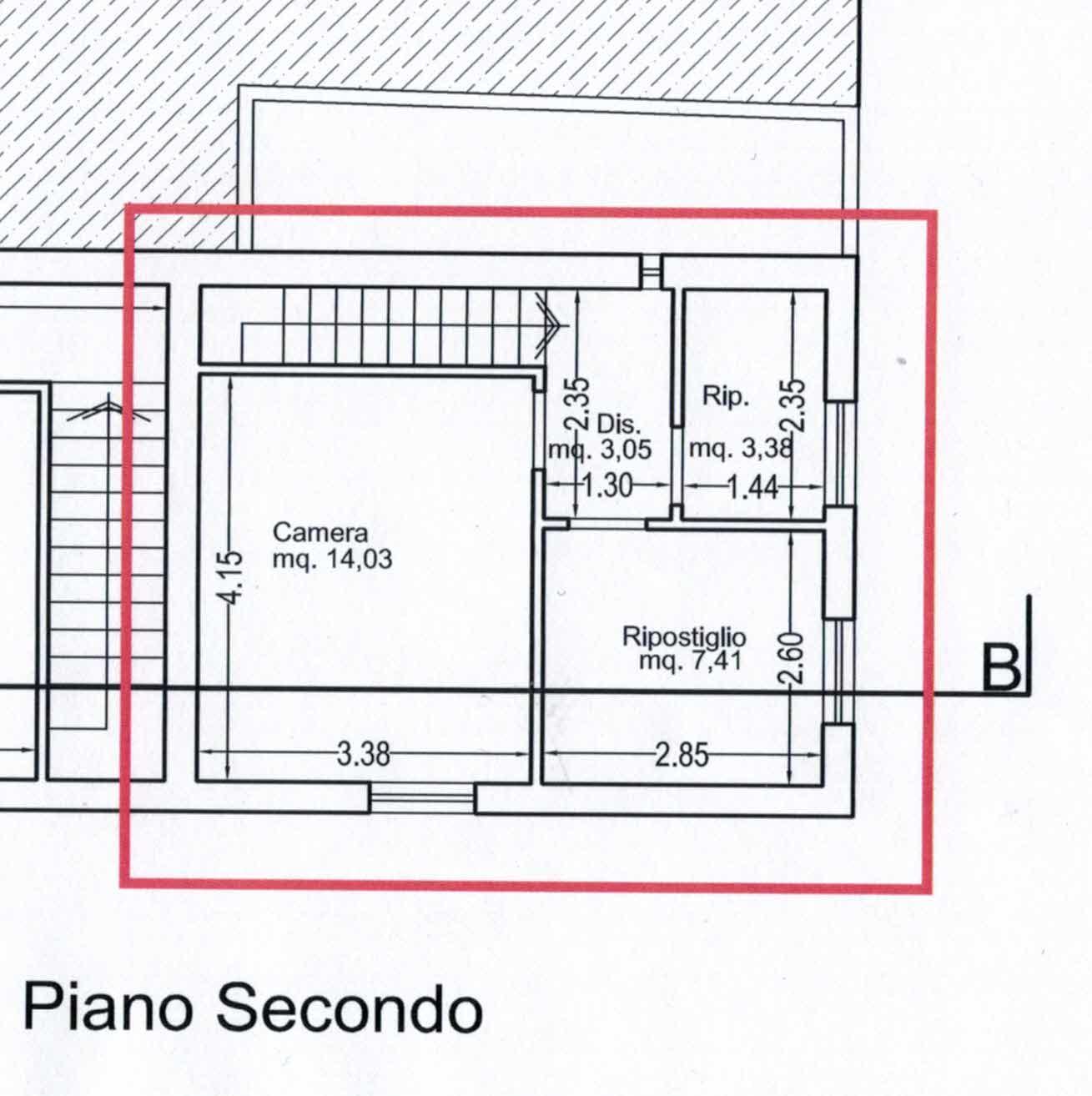Planimetria 2/2 per rif. 2974