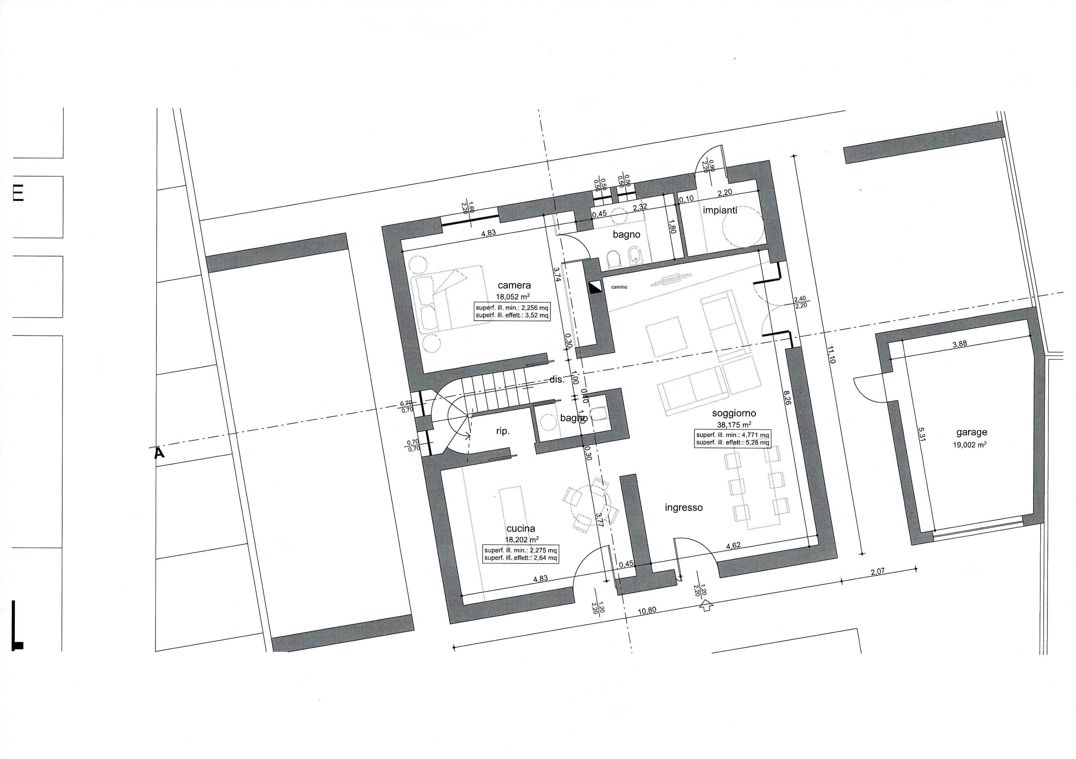 Planimetria 1/2 per rif. 2984