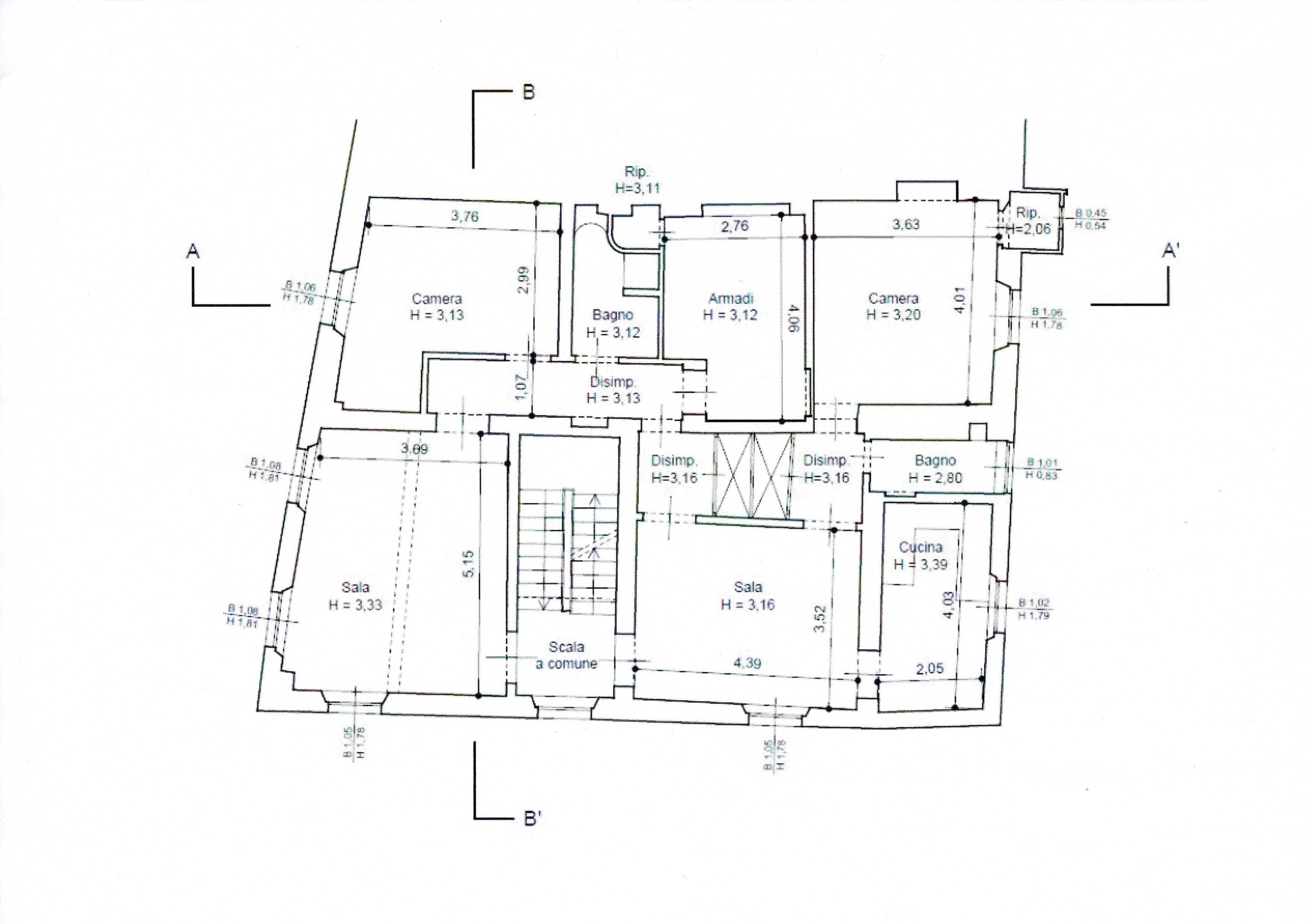 Planimetria 1/1 per rif. 2987