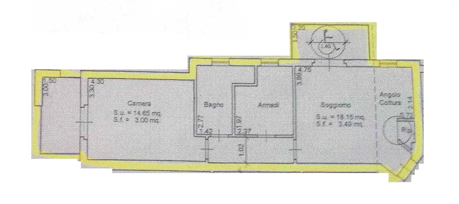 Planimetria 1/1 per rif. 2992