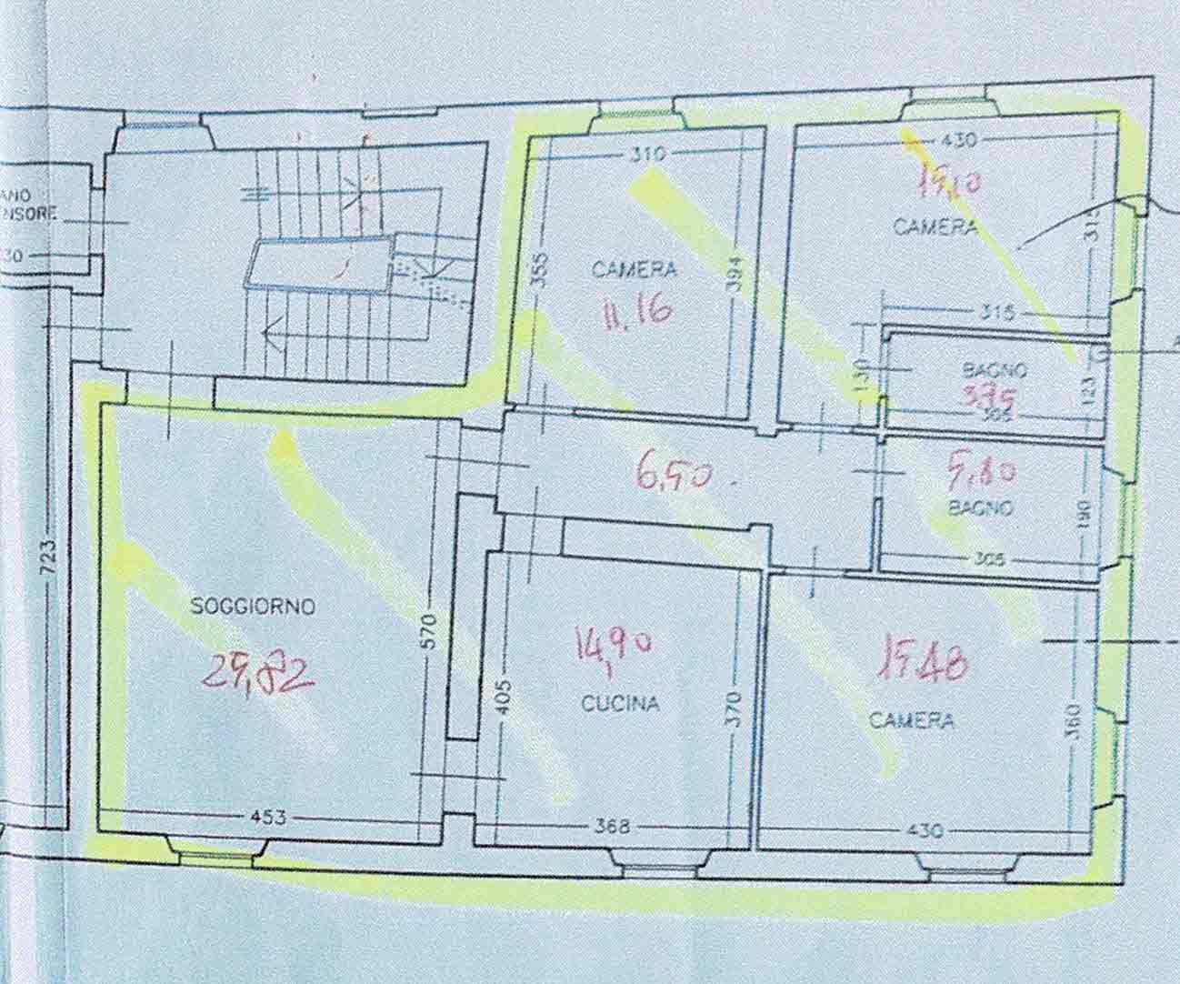Planimetria 1/1 per rif. 2996
