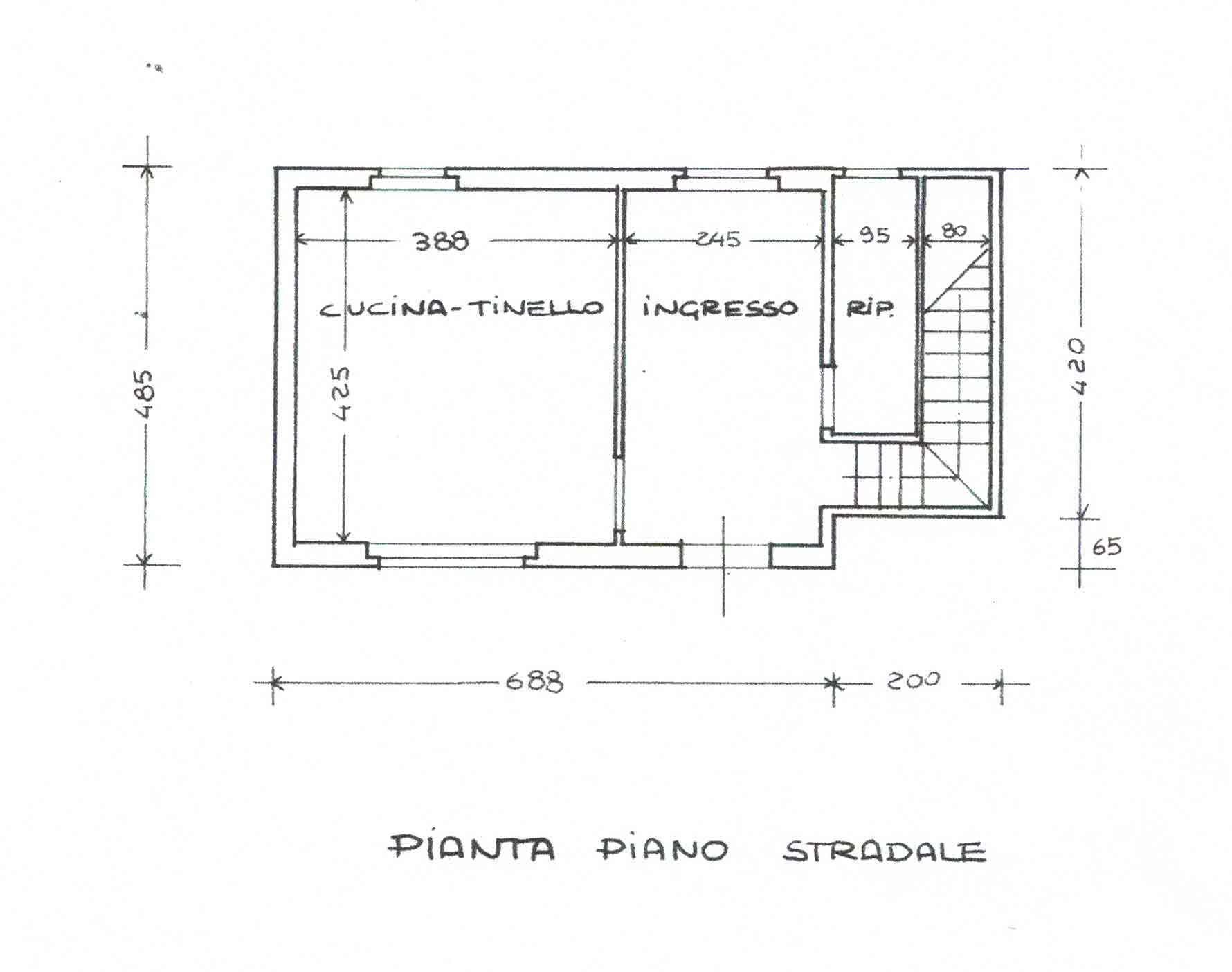 Planimetria 1/3 per rif. 3000