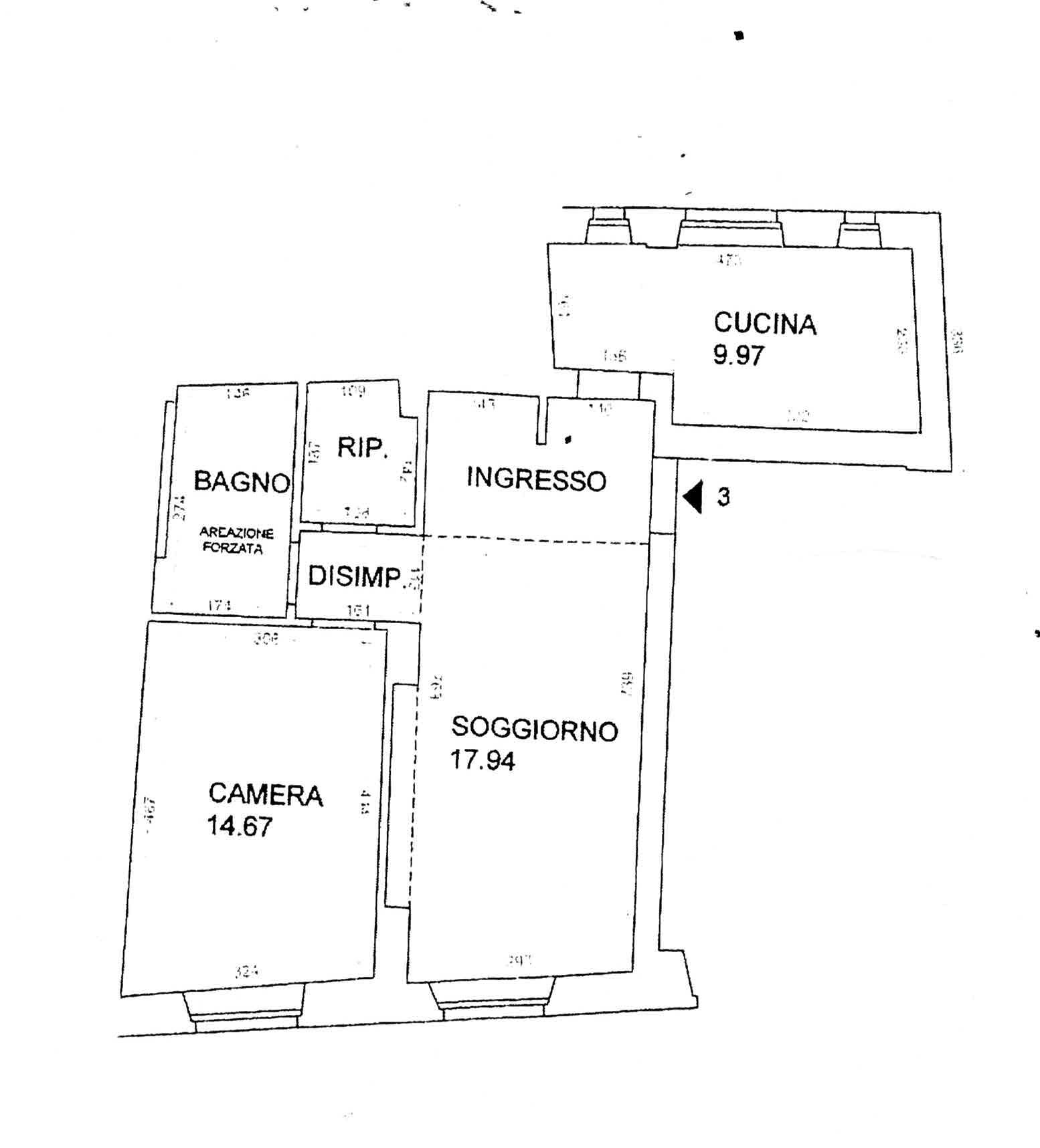 Planimetria 1/1 per rif. 3001