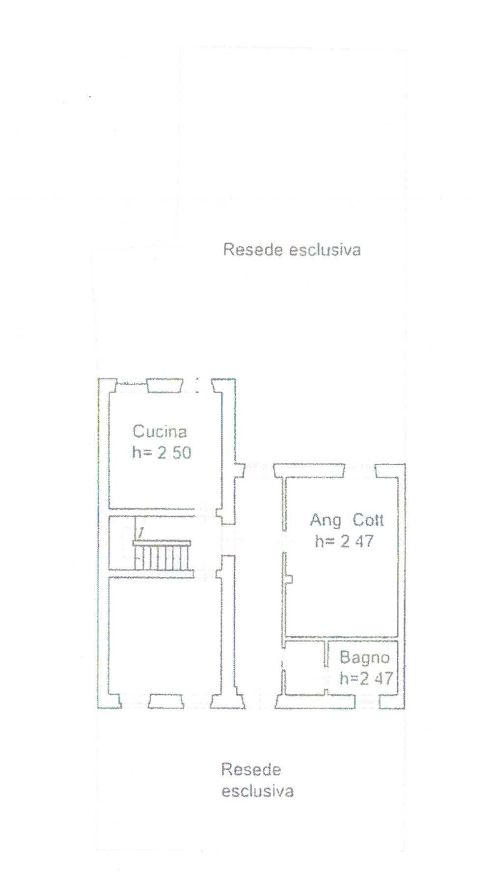 Planimetria 1/4 per rif. 3007