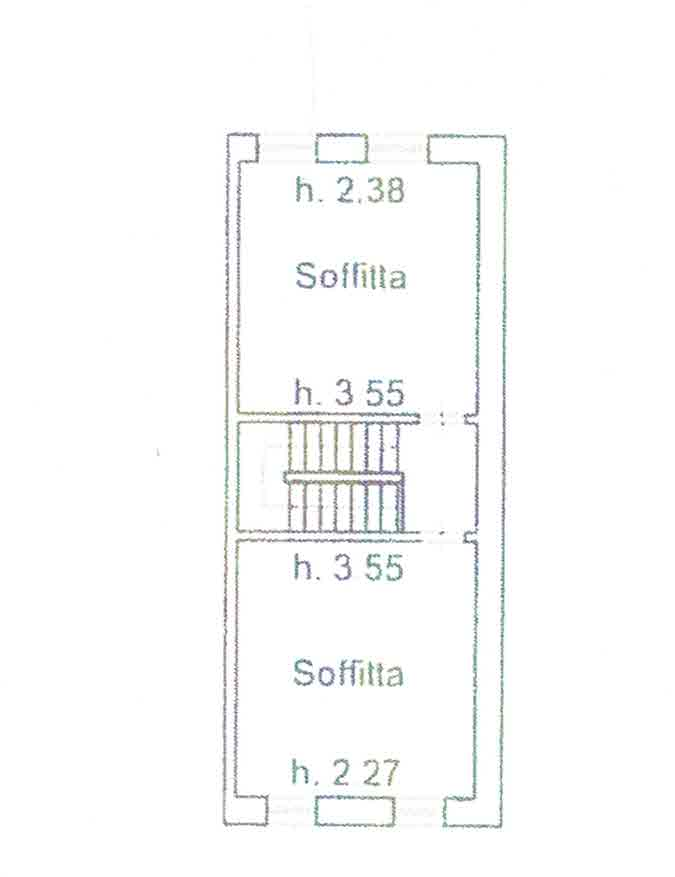 Planimetria 3/4 per rif. 3007