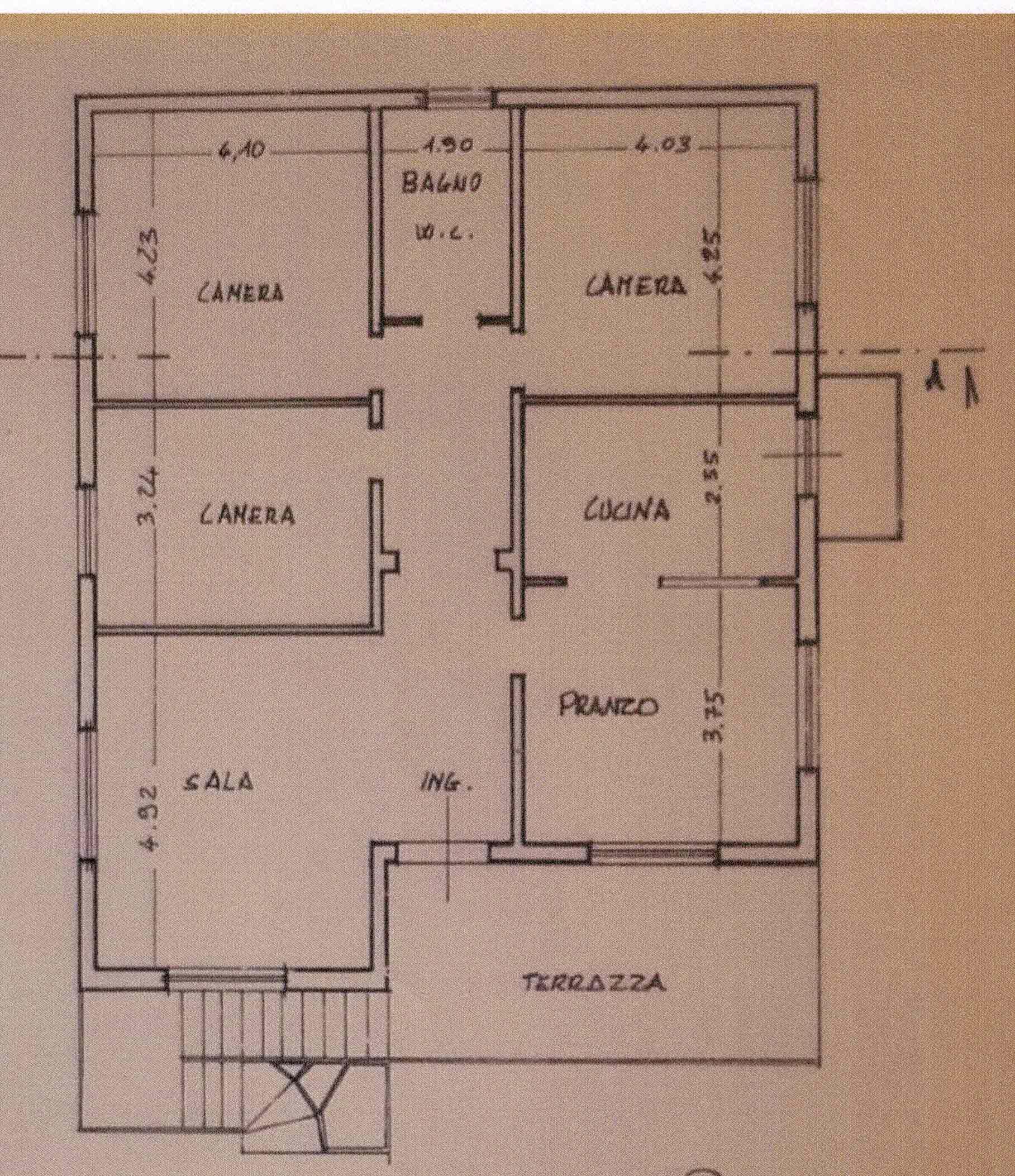 Planimetria 1/1 per rif. 3006