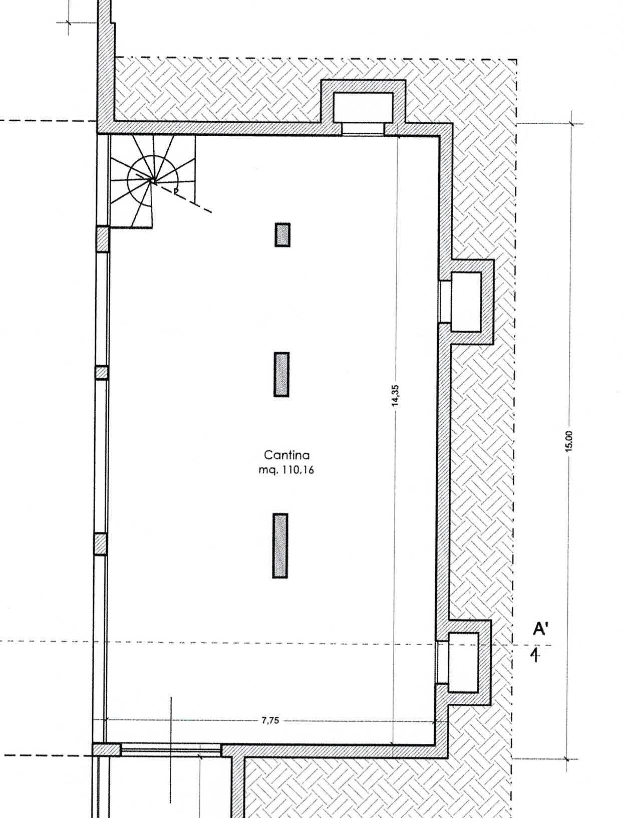 Planimetria 3/3 per rif. 3008