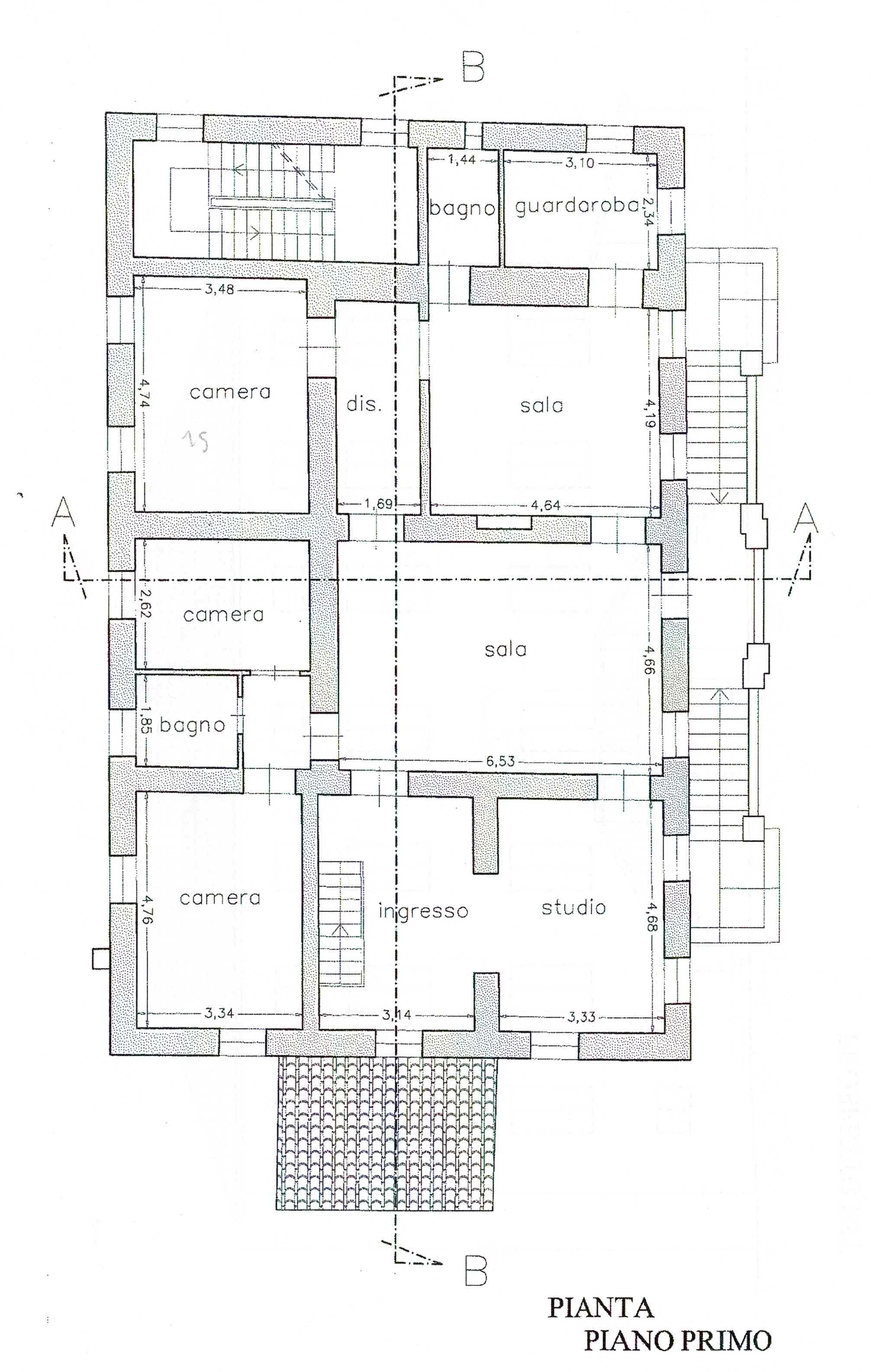 Planimetria 1/2 per rif. 3012