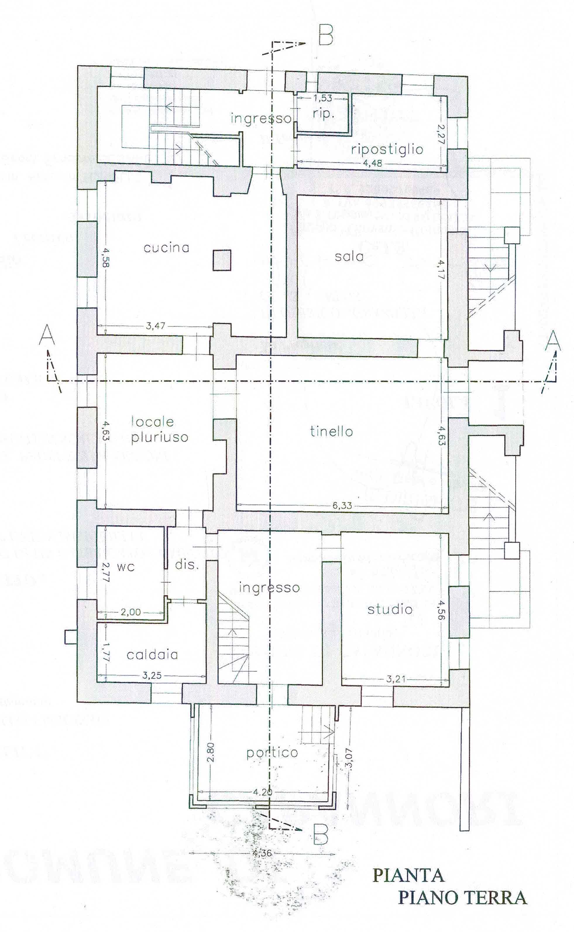 Planimetria 2/2 per rif. 3012