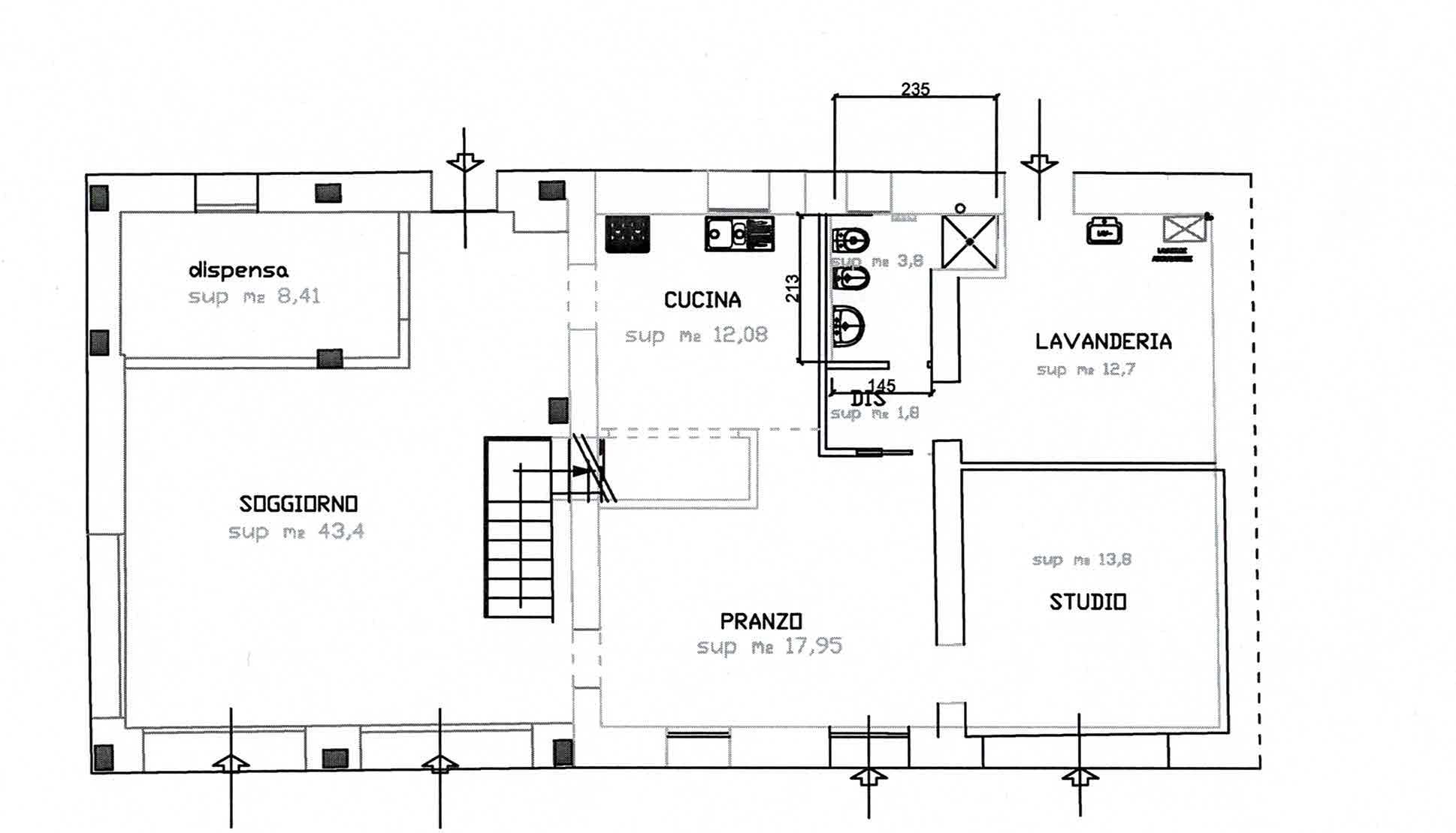 Planimetria 1/2 per rif. 3019