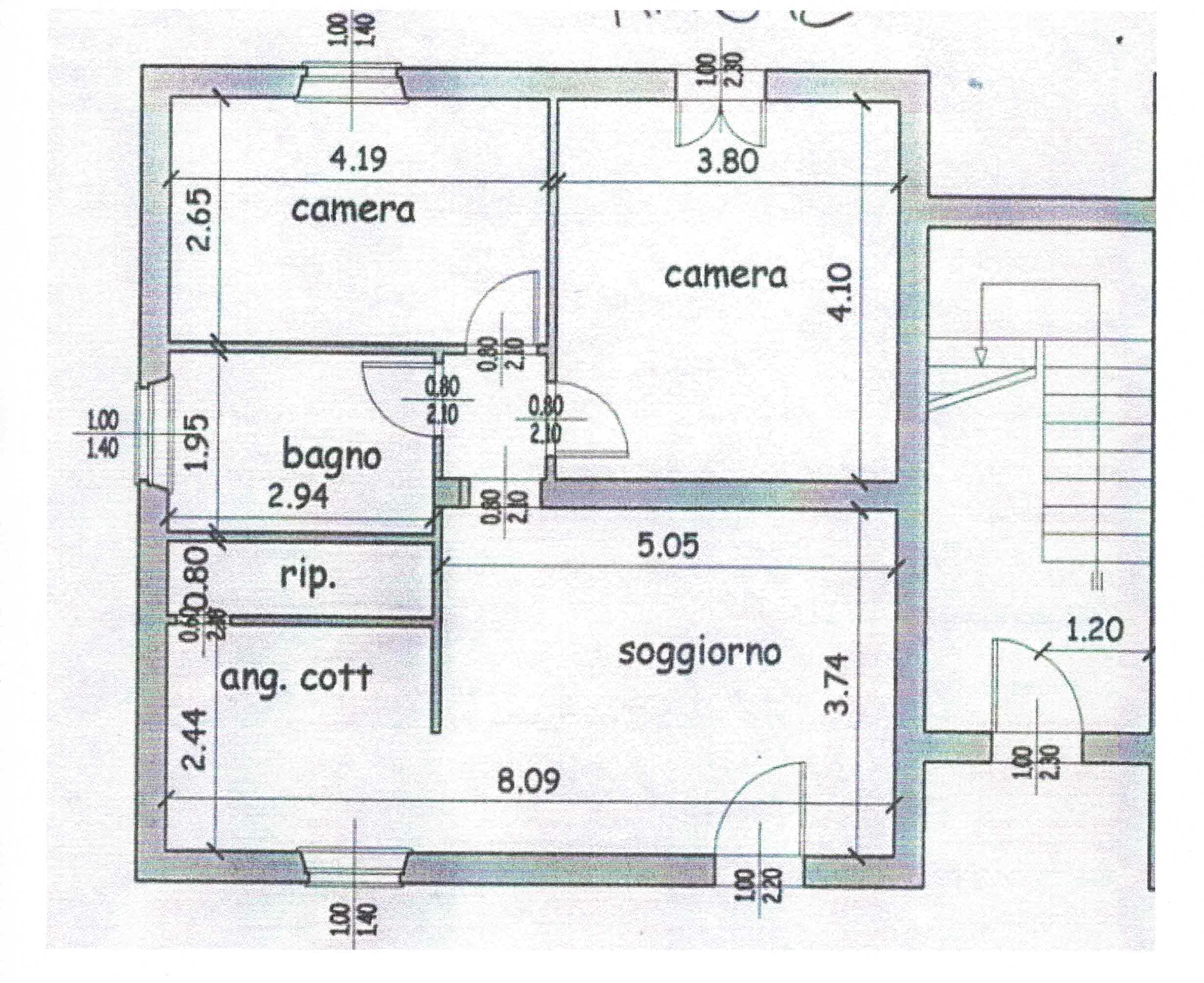 Planimetria 1/1 per rif. 3021