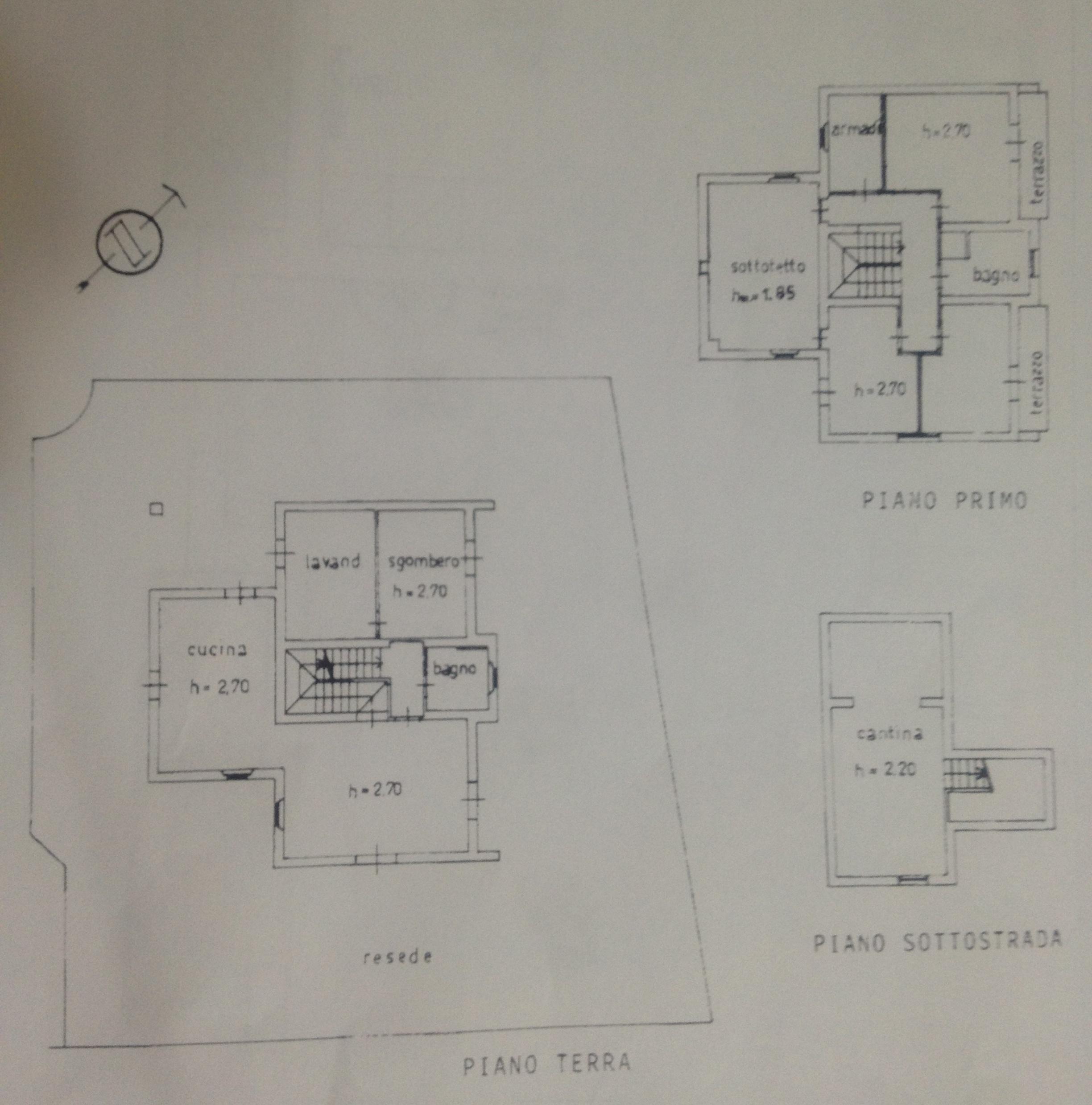 Planimetria 1/3 per rif. 281