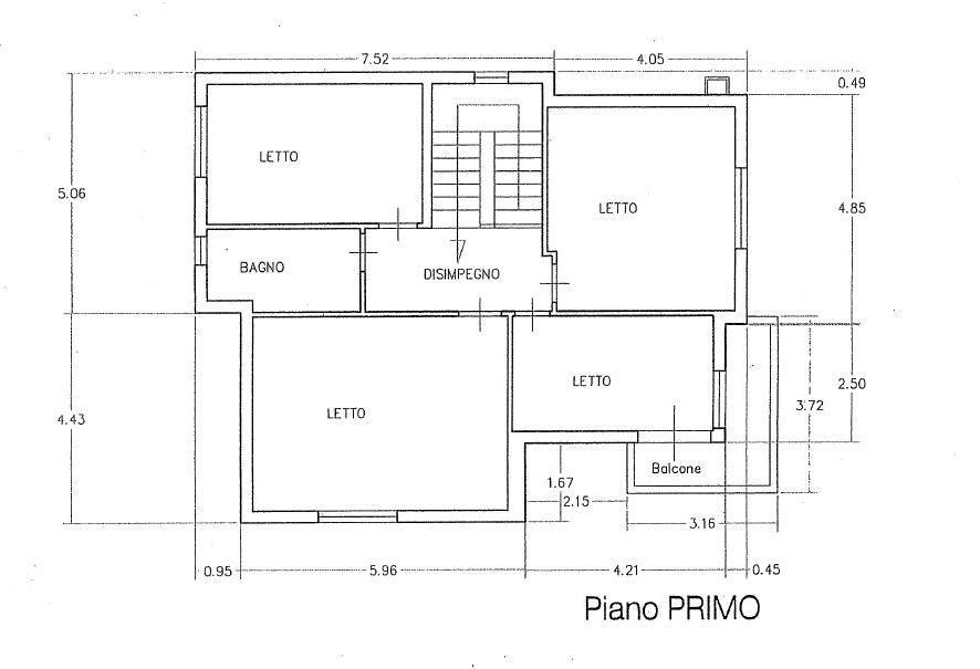 Planimetria 1/4 per rif. 430