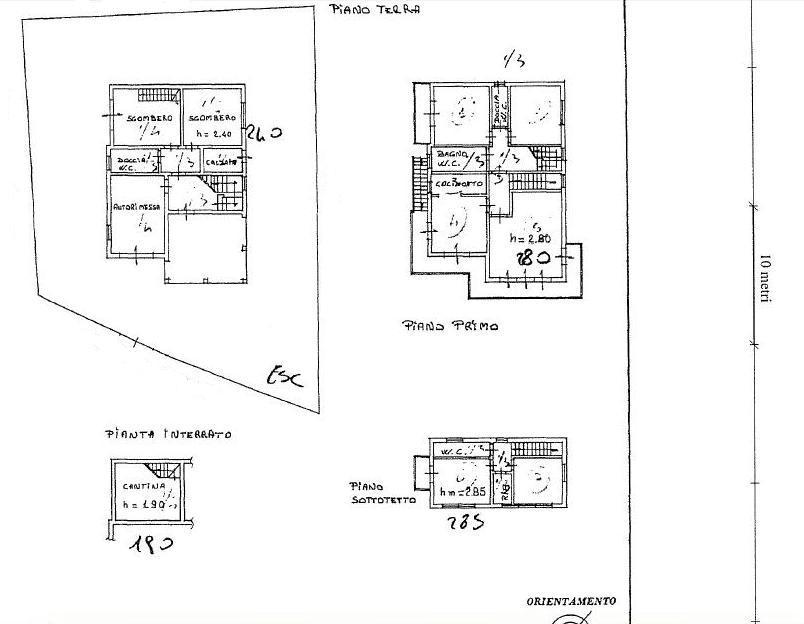 Planimetria 1/2 per rif. 408
