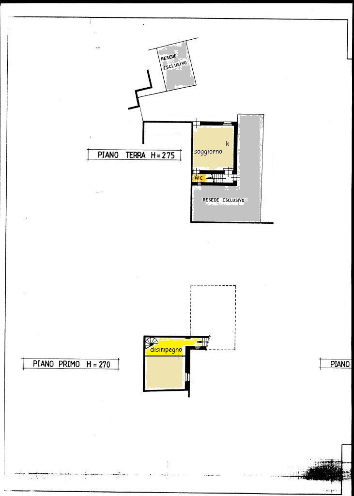 Planimetria 1/2 per rif. 374