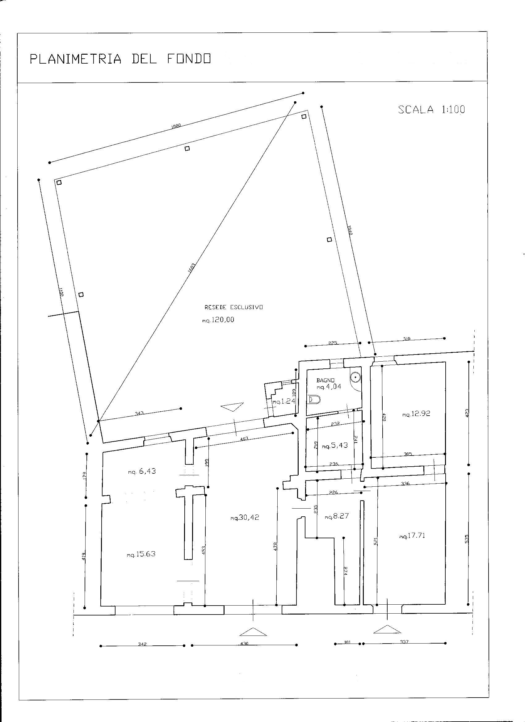 Planimetria 1/1 per rif. AFA012
