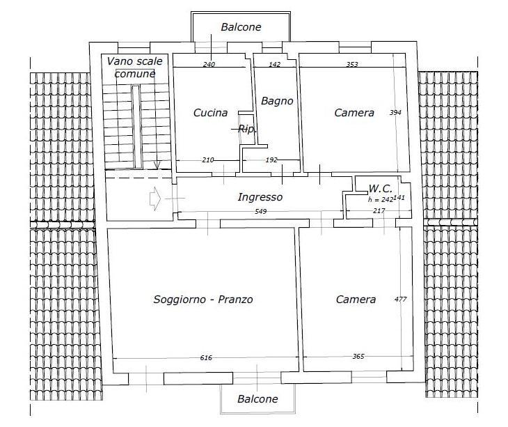 Planimetria 1/1 per rif. A364