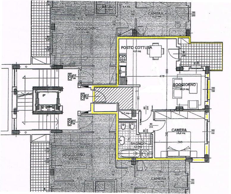 Planimetria 1/1 per rif. A406