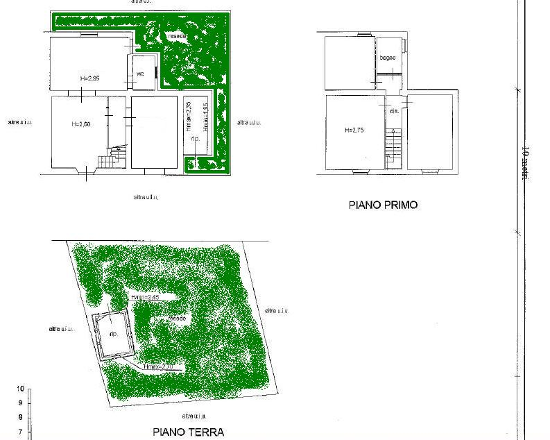 Planimetria 1/3 per rif. 404