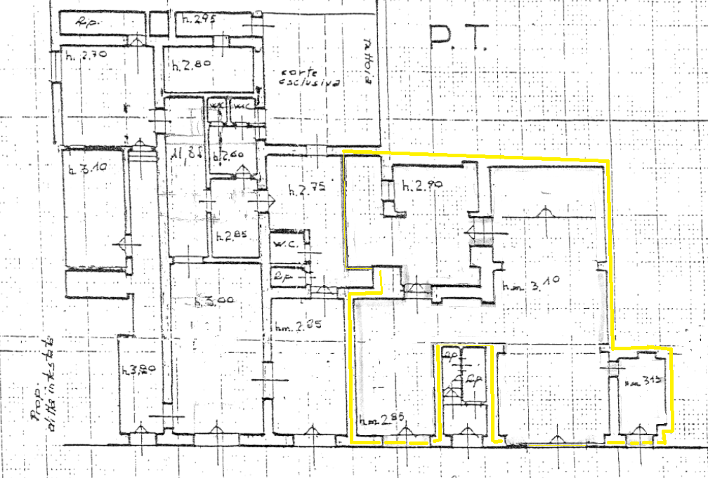 Planimetria 1/1 per rif. AFC014