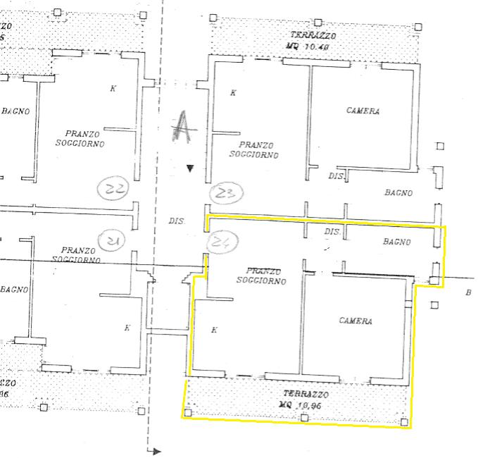 Planimetria 1/1 per rif. A416