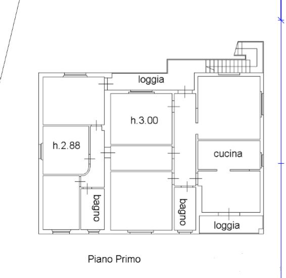 Planimetria 1/2 per rif. 475