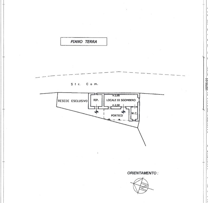 Planimetria 2/2 per rif. 491