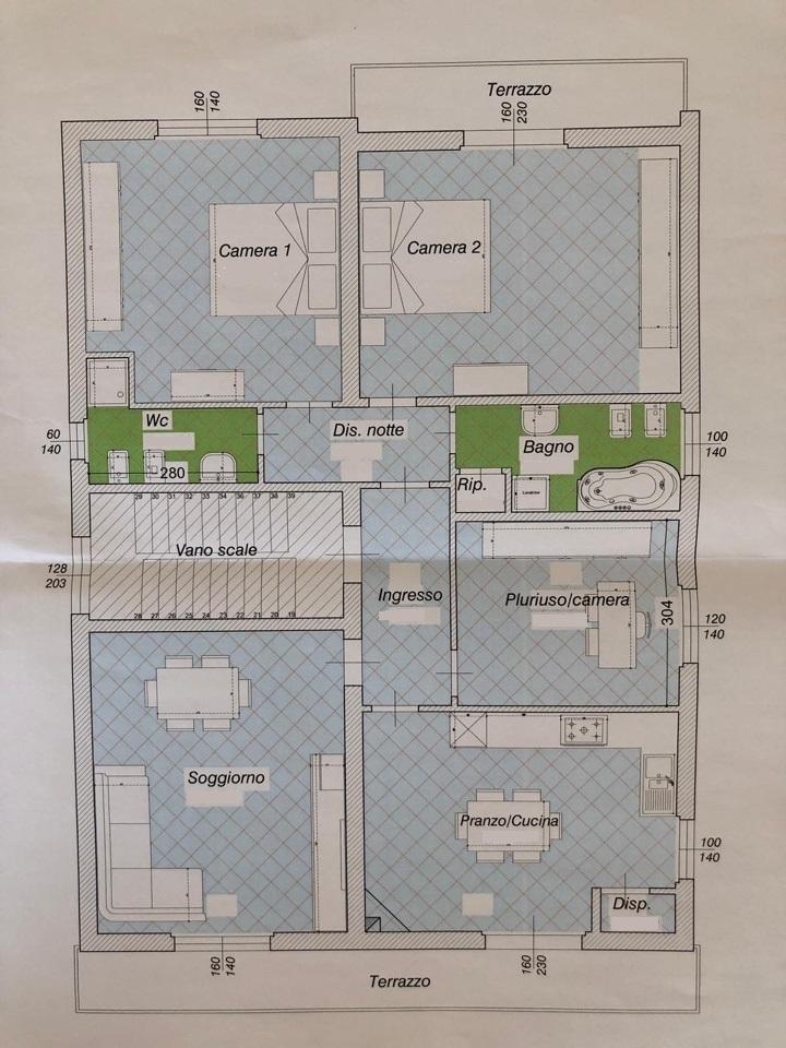 Planimetria 1/1 per rif. 501