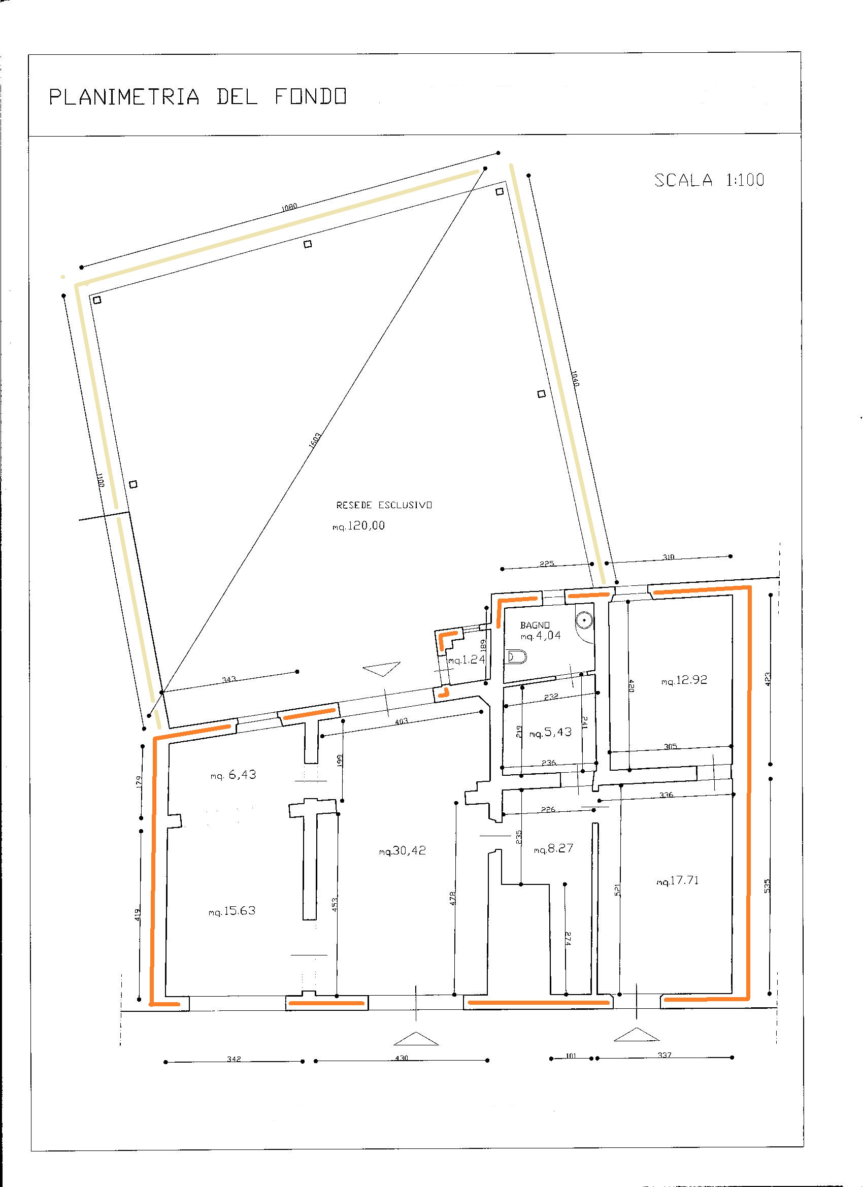 Planimetria 1/1 per rif. VFA009
