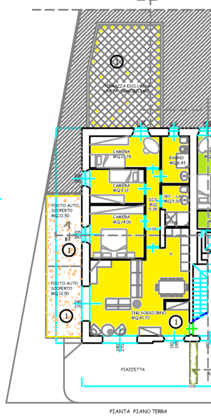 Planimetria 1/2 per rif. 513